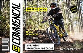 KIT CLEARPROTECT CUSTOM POUR SUPREME DH V3 BRILLANT