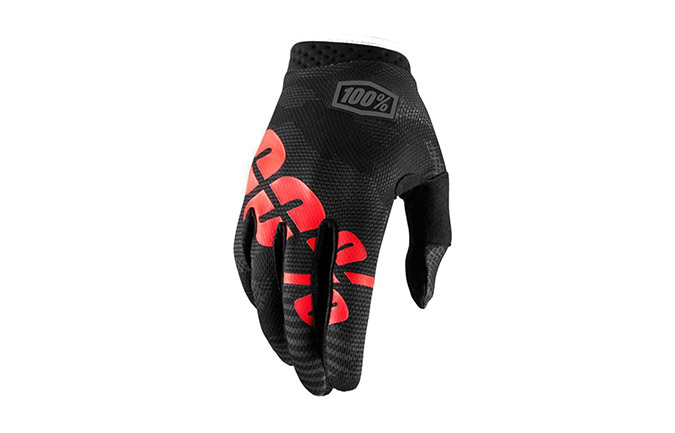 GANTS 100% KID ITRACK BLACK CAMO 2018