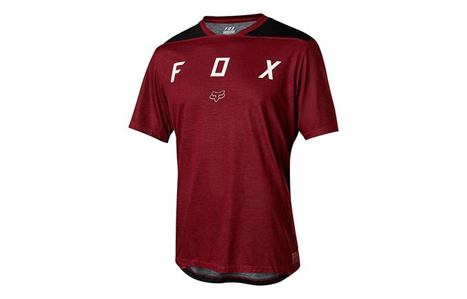 MAILLOT MANCHES COURTES FOX INDICATOR KID DARK RED 2018