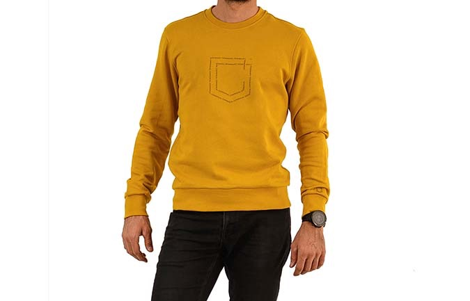 CREWNECK COMMENCAL SHIELD MUSTARD 2020