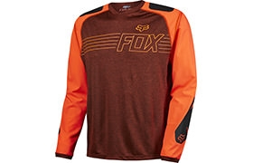 MAILLOT MANCHES LONGUES FOX HEAD EXPLORE ROUGE 2016
