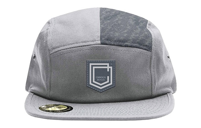CASQUETTE COMMENCAL FIVE PANEL SHIELD GREY 2019