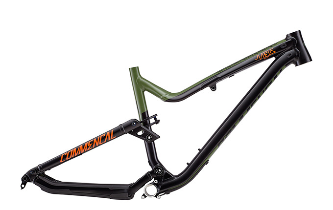 CADRE META AM V4.2 650B BRITISH COLUMBIA GREEN/ORANGE/BLACK 2018