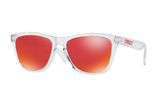 LUNETTES OAKLEY FROGSKINS CRYSTAL CLEAR/TORCH IRIDIUM