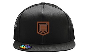 CASQUETTE COMMENCAL TRUCKER VISIERE PLATE SHIELD CUIR BLACK