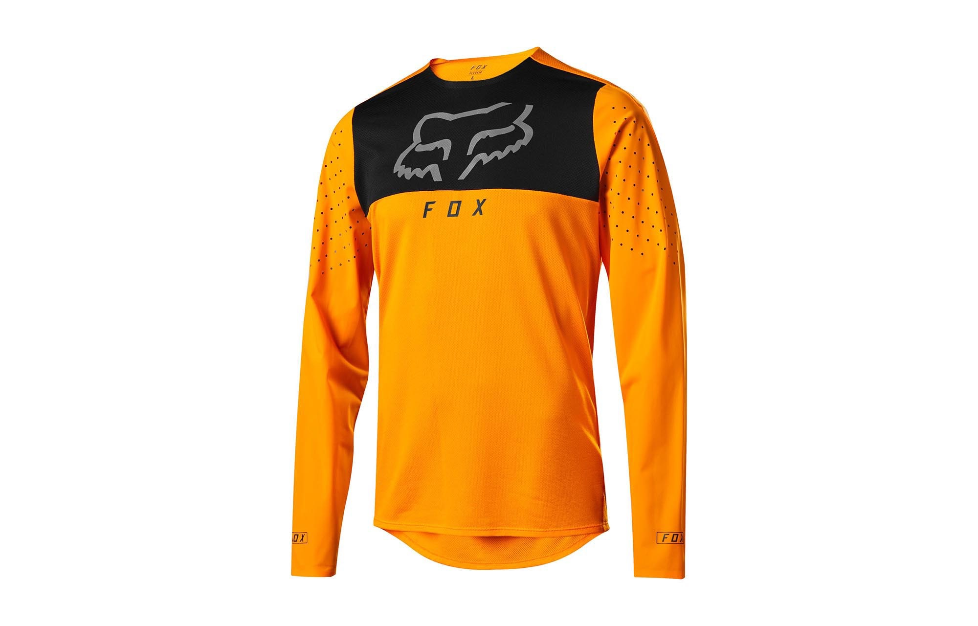special for shoe available superior quality MAILLOT MANCHES LONGUES FOX FLEXAIR DELTA OPEN ORANGE 2019