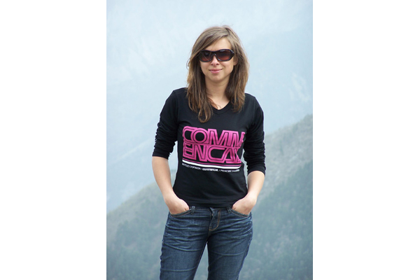 TEE SHIRT FAME ML PINK/BLACK