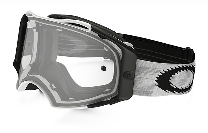 MASQUE OAKLEY AIRBRAKE MX BLANC MAT SPEED CLEAR LENS