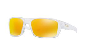 LUNETTES OAKLEY DROP POINT MATTE CLEAR/FIRE IRIDIUM