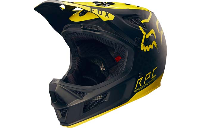 CASQUE FOX RAMPAGE PRO CARBON YELLOW