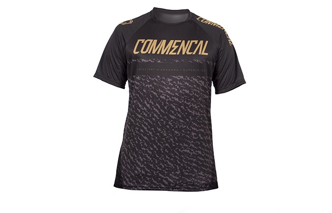 MAILLOT MANCHES COURTES COMMENCAL BLACK/GOLD