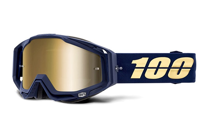 MASQUE 100% RACECRAFT BAKKEN - MIRROR TRUE GOLD LENS