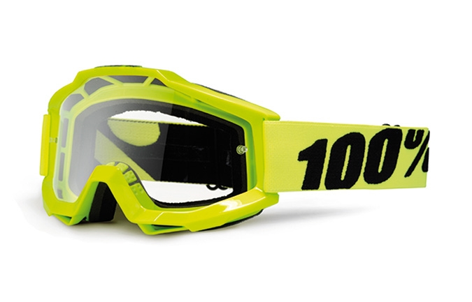 MASQUE 100% ACCURI FLUO YELLOW CLEAR LENS