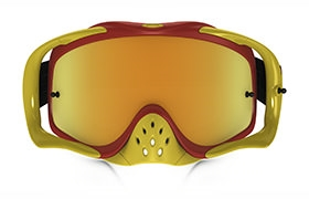 MASQUE OAKLEY CROWBAR SHOCKWAVE ROUGE/JAUNE 24K IRIDIUM