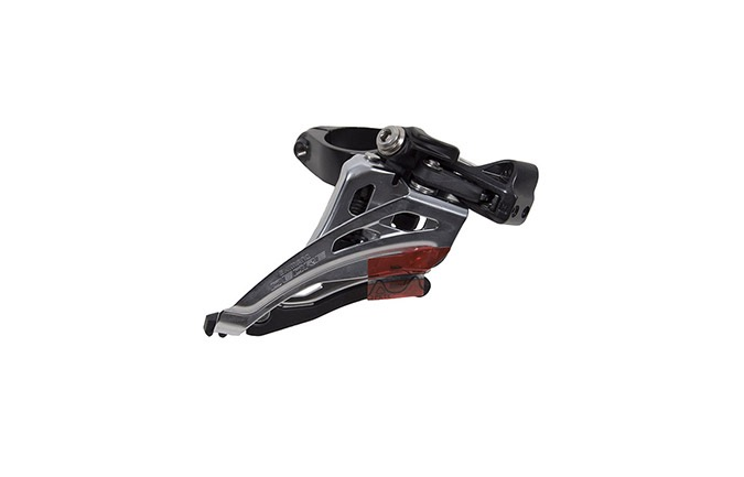 DERAILLEUR AVANT SHIMANO DEORE FD-M6020-M 2x10 SPEED TIRAGE LATERAL COLLIER HAUT