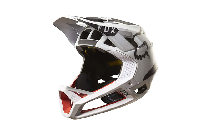 CASQUE FOX PROFRAME MOTH WHITE/RED