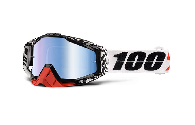 MASQUE 100% RACECRAFT ZOOLANDER MIRROR BLUE LENS
