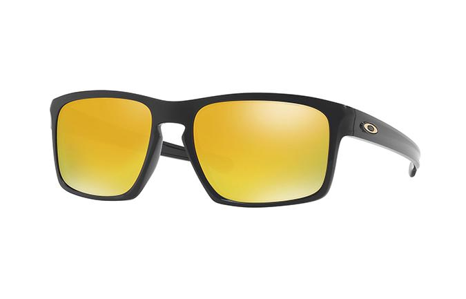 LUNETTES OAKLEY SLIVER POLISHED BLACK/24K IRIDIUM